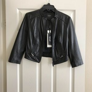 Bebe genuine leather jacket. BRAND NEW! Size SMALL